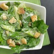 Caesar salad top down view — Stock Photo #8629612
