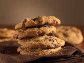 Chocolate chip cookies shot with selective focus. — Stock Photo