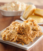 Fried chicken meal — Stock Photo