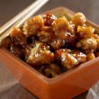 General tso's chicken in a bowl. — Stock Photo