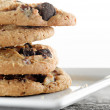 Stock Photo: Chocolate chip cookies macro