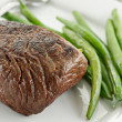Stock Photo: Sirloin steak dinner