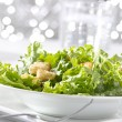 Leafy green salad with croutons — Stock Photo #8634701
