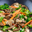 Overhead view of colorful stirfry — Stock Photo #8635759