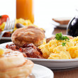 Huge breakfast - Stock Photo