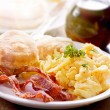 Stock Photo: Hearty breakfast
