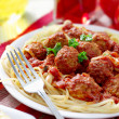 Hearty spaghetti dinner — Stock Photo