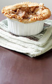 Vertical image of beef pot pie with extra copyspace — Stock Photo