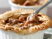 Beef pot pie closeup — Stock Photo