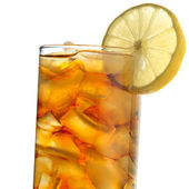 Iced tea isolated on white closeup — Stock Photo