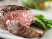 Steak cooked rare — Stock Photo