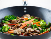 Colorful stirfry closeup — Stock Photo
