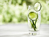 Boisson citron vert avec copysapce supplémentaire — Photo