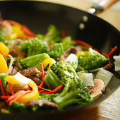 Wok sauté — Photo