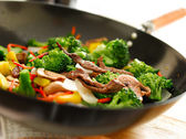 Wok stir fry — Stock Photo