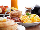 Huge breakfast — Stock Photo