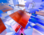 Tecnología abstracta 3d render — Foto de Stock