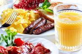 Breakfast plate — Stockfoto