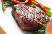 Steak-dinner — Stockfoto