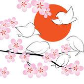 Sakura — Vetor de Stock