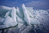 Ice on the black sea — Stock Photo