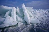 Ice on the black sea — Stock Photo