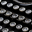 Keyboard of vintage typewriter — Stock Photo