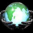 Earth in the hands — Stock Photo