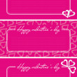 Valentine greetings card — Stock Vector