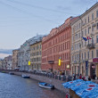 Beautiful colored building in St. Petersburg, Russia — Stock Photo
