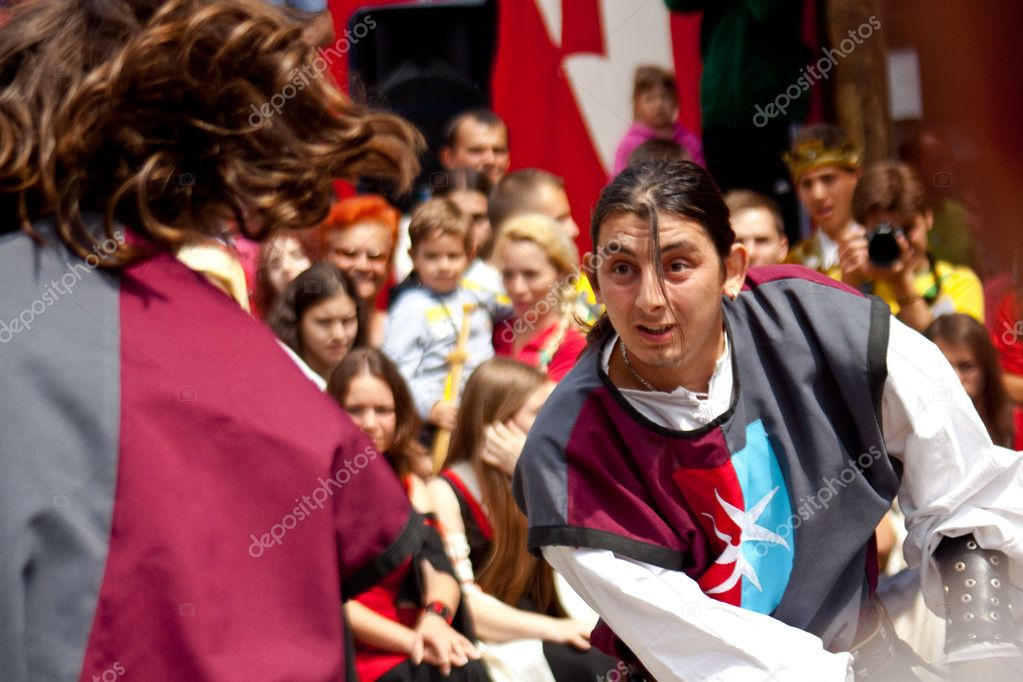 Medieval festival of Bistrita, Romania — Stock Photo #9147165