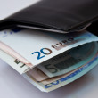 Royalty-Free Stock Photo: Euro banknote in a wallet
