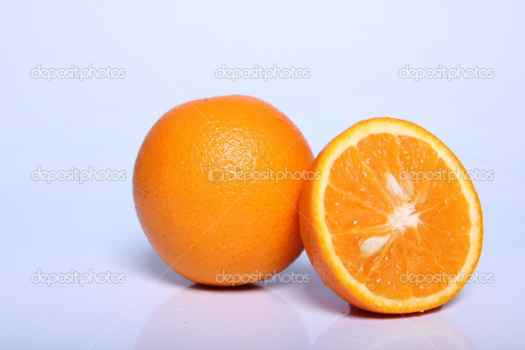 Fresh orange fruit in white — Stock Photo #10365340