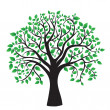 Tree isolated on a white background — Stock Vector