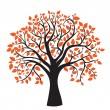 Autumn tree for your design — Vector de stock