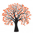 Autumn tree for your design — ストックベクタ
