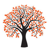 Autumn tree for your design — Vettoriale Stock