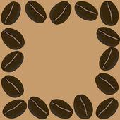 Frame coffee beans, vector — Stock Vector