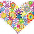 Royalty-Free Stock Imagen vectorial: Heart of flowers