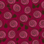 Kırmızı çiçekli zemin, seamless modeli — Stok Vektör