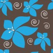 Seamless Blue Hawaii Pattern - Stock Vector