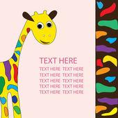 Giraffe in vector format very easy to edit — Stock Vector