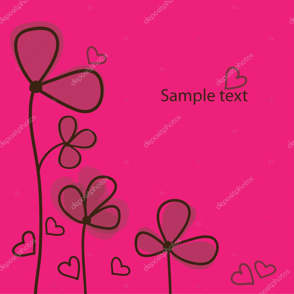 Vector flower background — Stock Vector #9082837