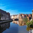 Каналы Брюгге. Бельгия. / Channels of Brugge. Belgium. — Stock Photo
