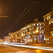 Night view of Nevsky Prospect - main street in the city of St. Petersburg. — Stock Photo