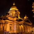 Saint Isaac's Cathedral in night, St. Petersburg, Russia — Stock Photo #8497868