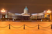 Kazan Cathedral in night, St. Petersburg, Russia — Stock Photo