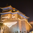Night view of The Zhengyangmen Gatehouse. Beijing, China — Stock Photo