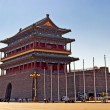 The Zhengyangmen Gatehouse. Beijing, China — Stock Photo