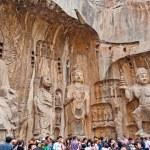 The Big Vairocana and Boddhisatvas in main Longmen Buddha Grotto. — Stock Photo